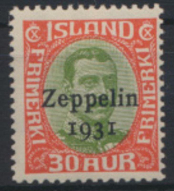 Island 147 Flugpost Islandfahrt Graf Zeppelin Luxus postfrisch Kat.-Wert 65,00