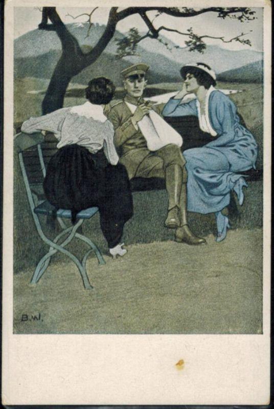 Ansichtskarte Kriegspostkarte Nr. 3 Künstler sign. B. Wennerberg ungelaufen