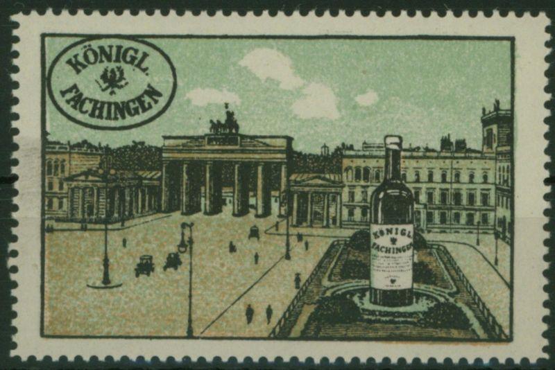 Berlin Brandenburger Tor Reklame - Marke Vignette Königlich Fachingen