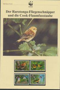 WWF Cook Island 1278-1281 Vögel Rarotonga-Fliegenschnäpper kpl. Kapitel besteh