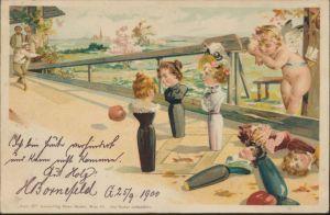 Ansichtskarte Litho Sport Kegeln Gevelsberg 1900
