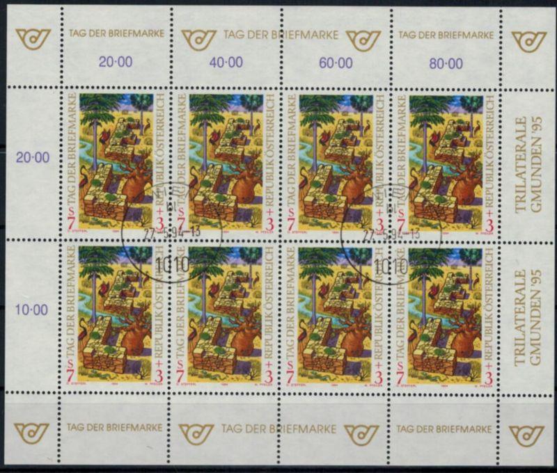 Österreich Kleinbogen Tag der Briefmarke 2127 Philatelie Ersttagsstempel 1994