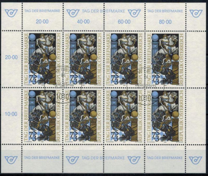 Österreich Kleinbogen Tag der Briefmarke 2097 Philatelie Ersttagsstempel 1993