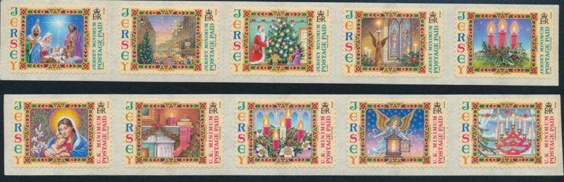 Großbritannien - Jersey 1153I-1162I Weihnachten 2004 postfrisch