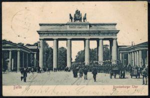 Ansichtskarte Berlin Brandenburger Tor gelaufen 1904