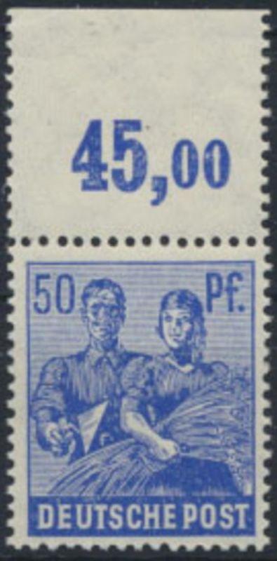 Gemeinschaftsausgabe Kontrollratsausgabe II 955 P OR dgz ** 50 Pf