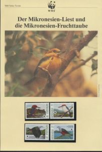 WWF Mikronesien 174-177 Tiere Vögel Der Mikronesien-Liest kpl. Kapitel bestehend