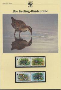 WWF Cocos Island 267-270 Tiere Vögel Keeling-Bindenralle  kpl. Kapitel bestehend
