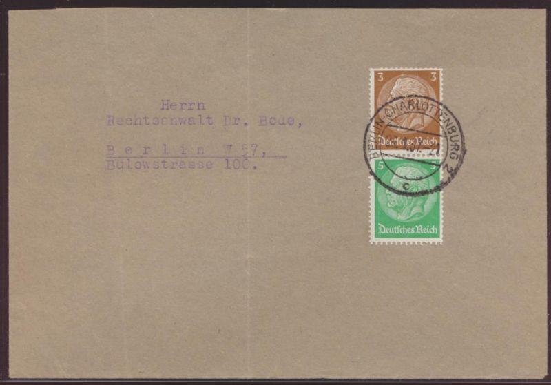 Reich Zusammendruck Hindenburg S 127 Berlin Charlottenburg nach W 57