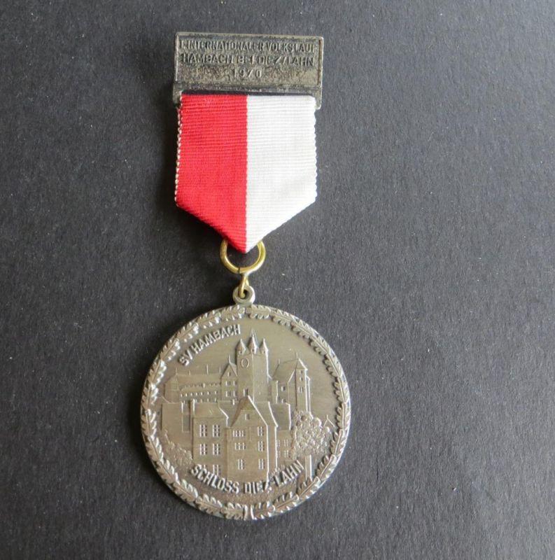 Medaille 1. Internationaler Volkslauf Hambach Schloss Diez/Lahn 1970