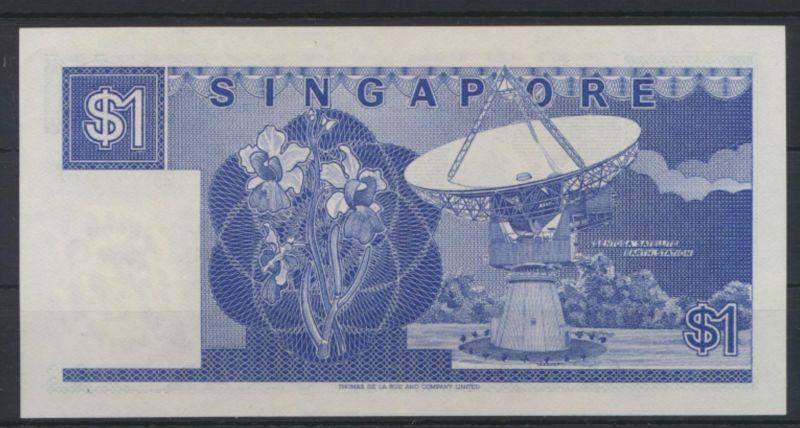 Banknote Geldschein Singapur 1 Dollar 1987 P18 UNC
