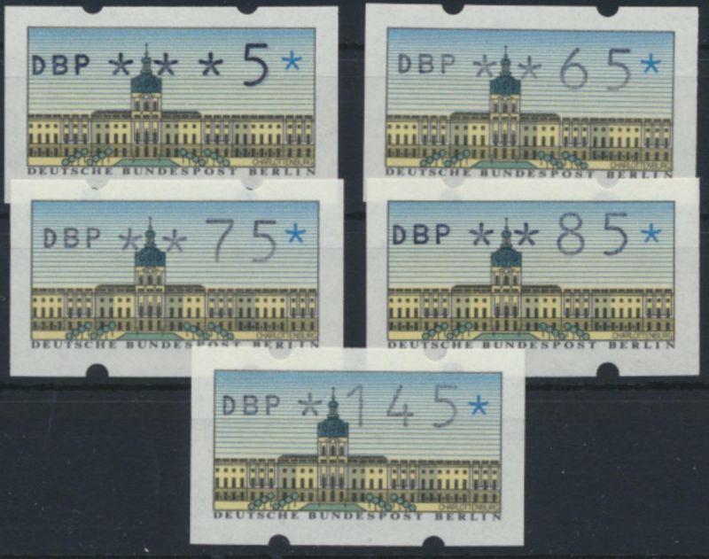 Berlin Automatenmarken 1 VS 2 Luxus postfrisch MNH 1987 Kat,-Wert 15,00