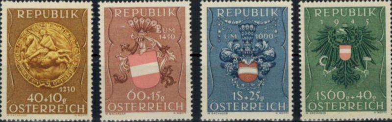 Österreich Kriegsgefangene Heimkehrerfürsorge 937-940 postfrisch Kat.-Wert 45,00
