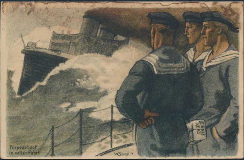 Ansichtskarte Künstler W. Georgi Reklame Bahlsen Feldpost Marine Torpedoboot