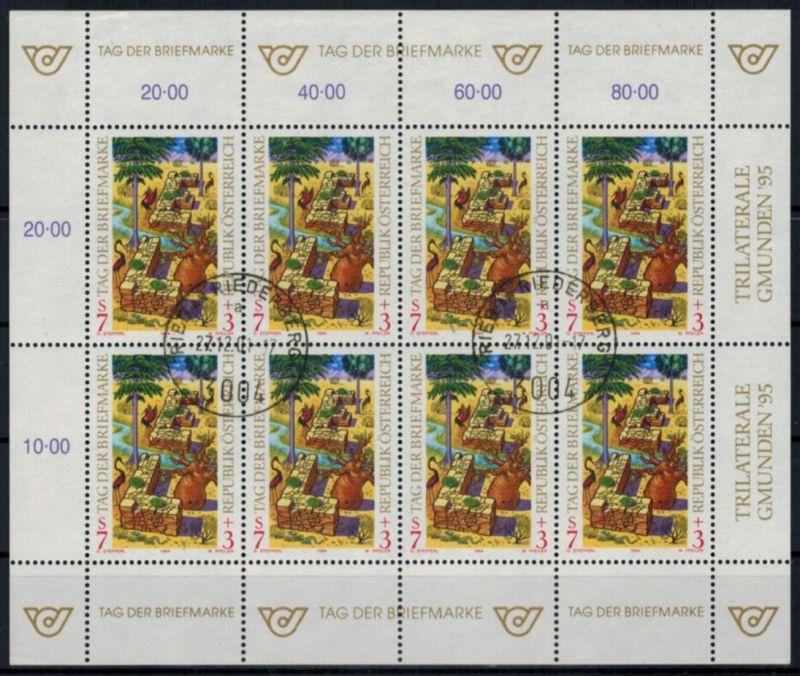 Österreich Kleinbogen Tag der Briefmarke 2127 Philatelie gestempelt 1994