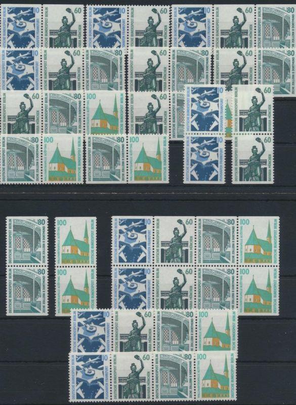 Berlin Sehenswürdigkeiten kpl.Satz HB23 +14 Zusammendrucke +senkr.Paare 375,00