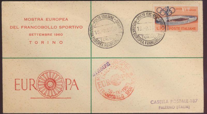 Italien Brief Europa Frankobollo