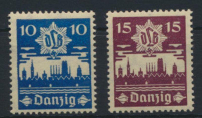 Danzig 267-268 Luftschutz Luxus postfrich MNH Kat.-Wert 11,00