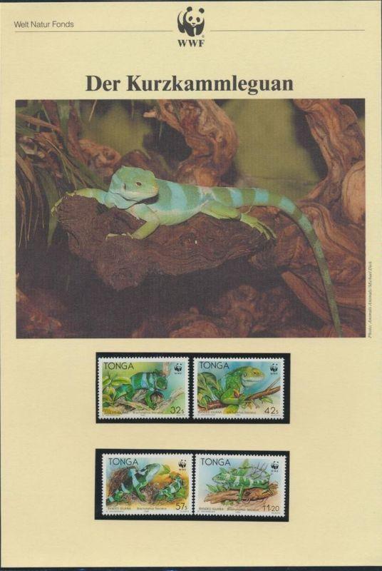 WWF Tonga 1140-1143 Tiere Der Kurzkammleguan kpl. Kapitel bestehend aus