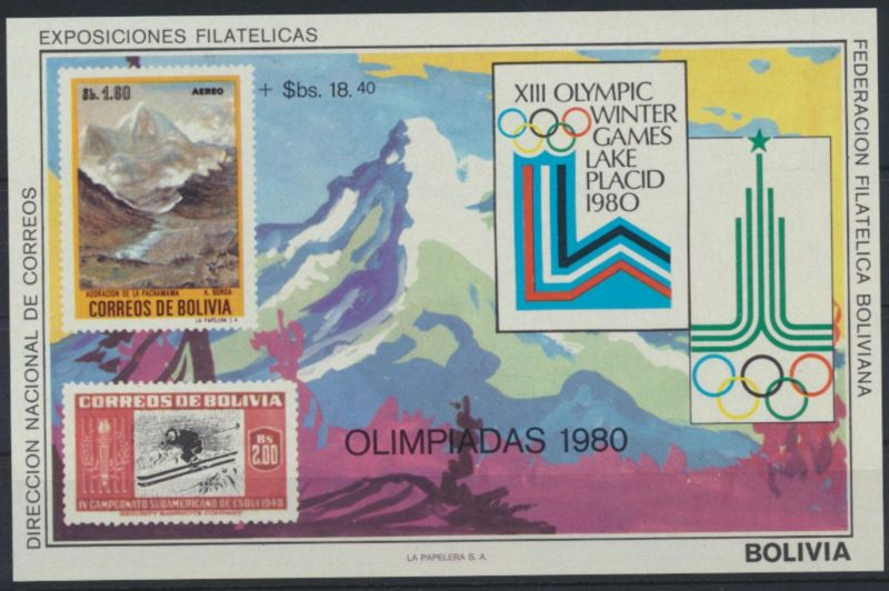 Bolivien Flugpost Block 89 Olympia Sport Moskau Bolivia Olympics Sports Moscow