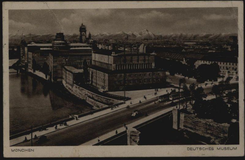 Ansichtskarte München Deutsches Museum mit Propagandastempel 7.12.1939