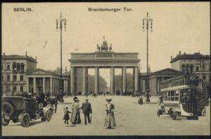 Ansichtskarte Berlin Brandenburger Tor gelaufen