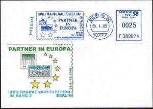 Bund attraktive Sonderkarte Briefmarkenausstellung Berlin Brandenburger Tor 2005