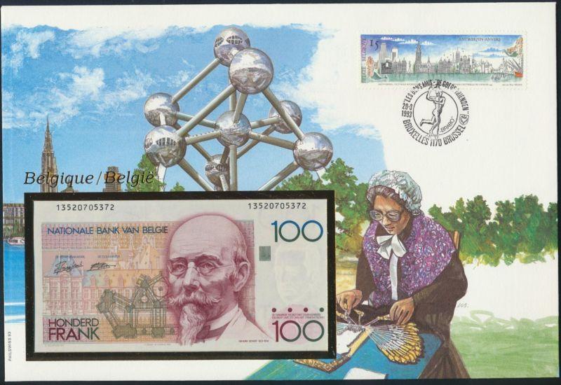 Geldschein Banknote Banknotenbrief Belgien 1993 schön und exotisches Motiv