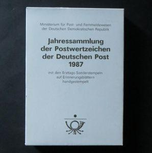 DDR Ersttagsblatt - Jahressammlung 1987 mit ESST handgestempelt Kat.-Wert 170,-