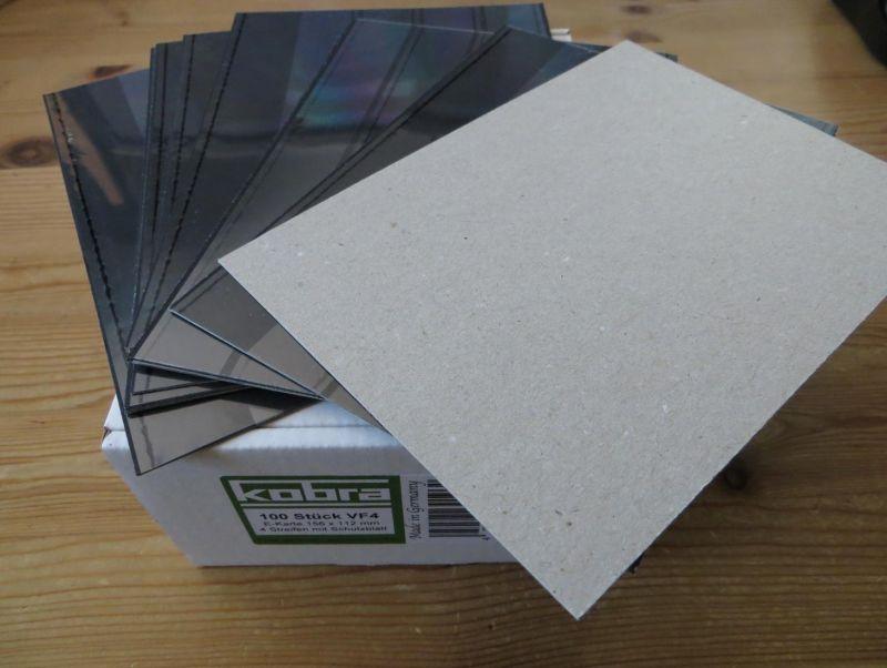 Kobra Qualitäts Steckkarten C6 mit 4 Streifen und Deckfolie fabrikneu 300 Stück