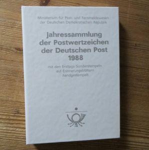 DDR Ersttagsblatt - Jahressammlung 1988 mit ESST handgestempelt Kat.-Wert 160,-
