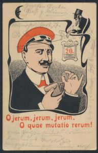 Ansichtskarte tolle Studentika Litho Karte Erfurt 23.10.1905 nach Stendahl