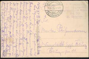 Ansichtskarte I. WK. Durch Kampf zu Krieg ..Feldpost Regiment Graf Werder Nr. 30