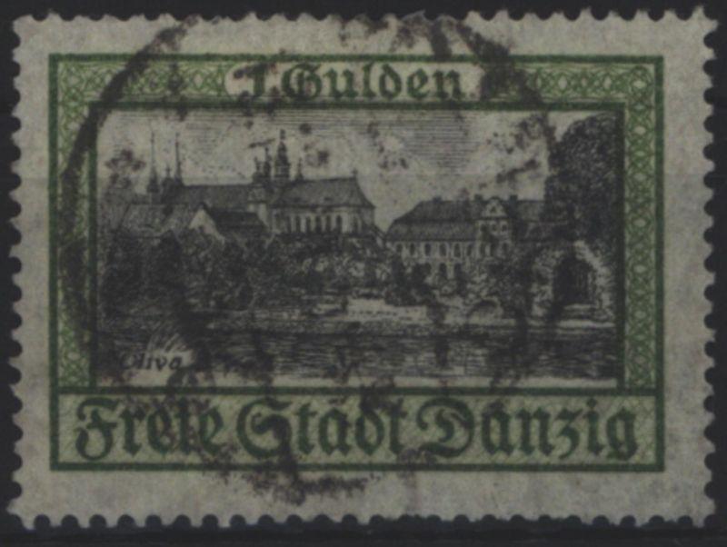 Freie Stadt Danzig 207 Schloss und Kloster Oliva 1 Gulden 1924 gestempelt