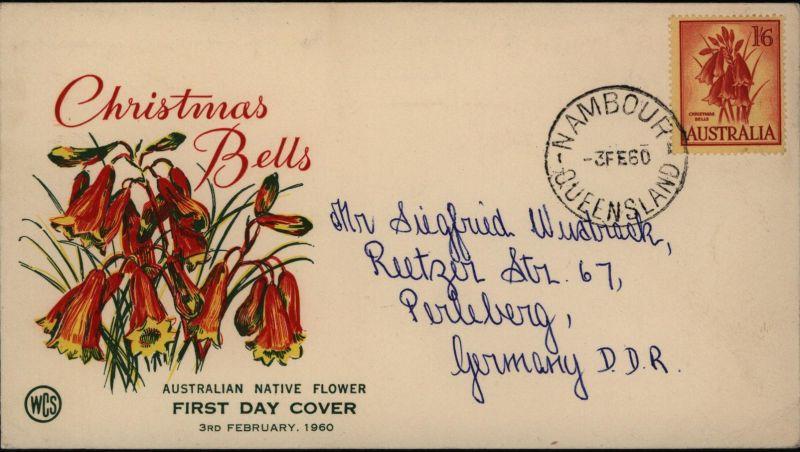 Australien Brief 298 schöner illustrierter FDC Nambour Queensland n. Perleberg