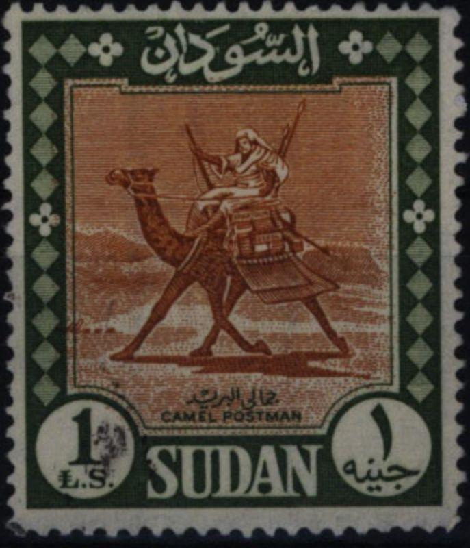 Sudan 192 AZ Kamelpostreiter 1 Pfund 1962 gestempelt Michelwert -,-