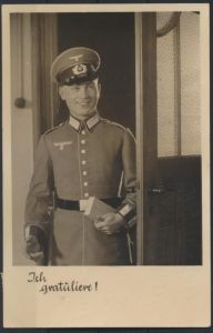 Militaria Foto Ansichtskarte Unsere Wehrmacht Uniform Verlag Horn Gotha Amberg