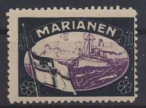 Deutsche Kolonien Marianen Vignette Kaiseryacht postfrisch