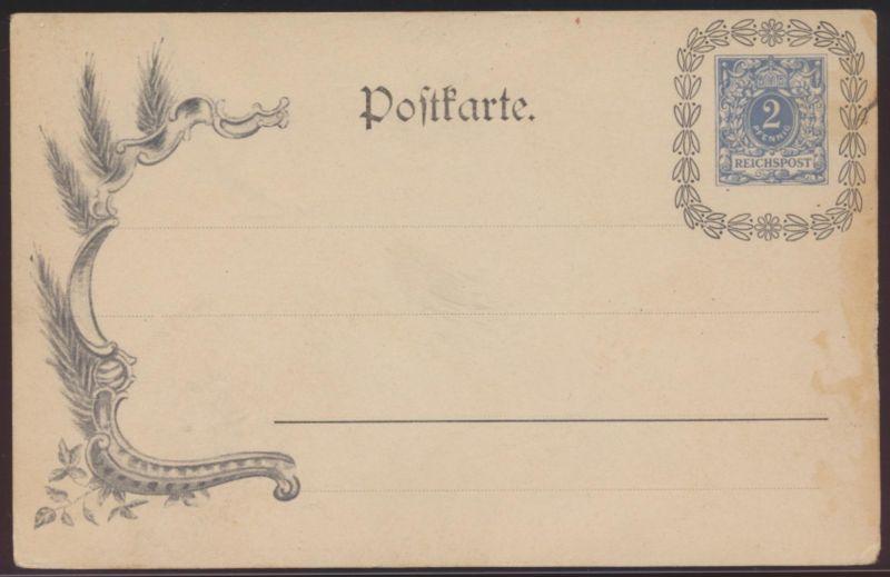 Deutsches Reich Privatganzsache PP 7 E1 02 Krone Ziffer Lorbeerkranz Reichspost