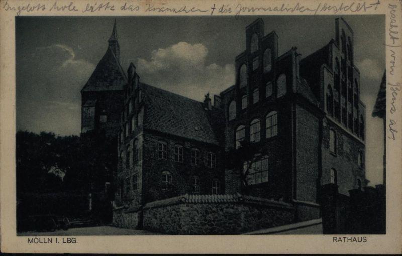 Ansichtskarte Mölln in Lauenburg Rathaus Schleswig-Holstein n. Hamburg 1931