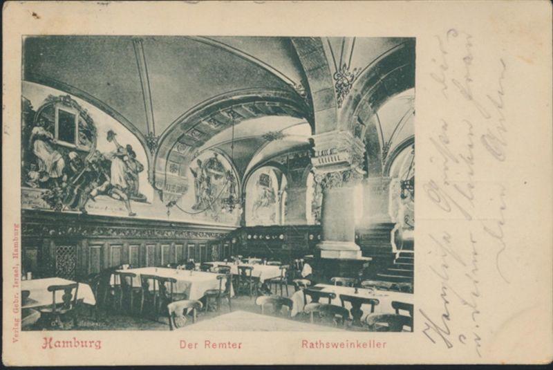 Ansichtskarte Foto Hamburg Der Remter Ratsweinkeller Innenansicht n. Ulm 1899