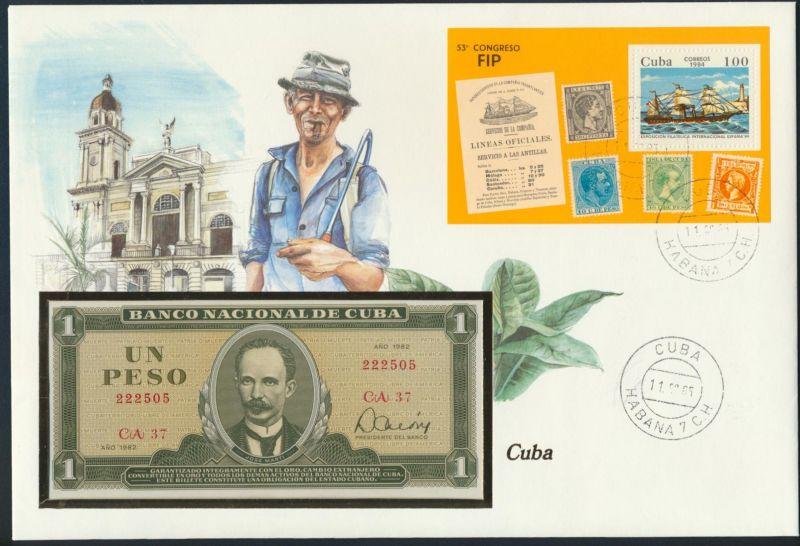Geldschein Banknote Banknotenbrief Cuba 1984 schön und exotisches Motiv