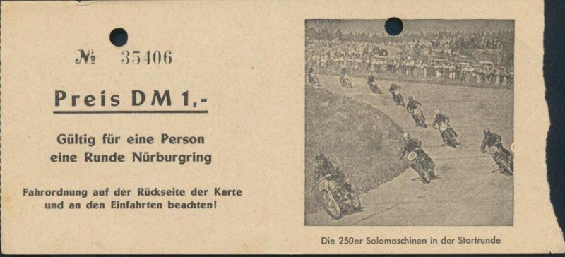 Ticket Gutschein Eintrittskarte 1 Runde Nürburgring + Fahrordnung Auto Rennsport 0