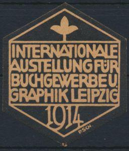 Vignette Reklame Jugendstil Künstler Ausstellung Buchgewerbe & Grafik Leipzig
