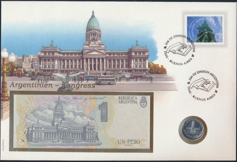 Geldschein Banknote Banknotenbrief Argentinien 1995 schön und exotisches Motiv