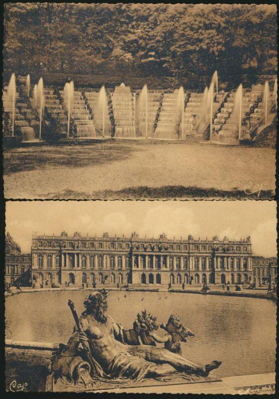 7 Ansichtskarten Frankreich Schloss Versailles ungelaufen