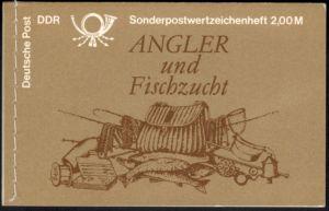 DDR Markenheftchen 9 v 1 Süßwasserfische 1988 tadellos postfrisch