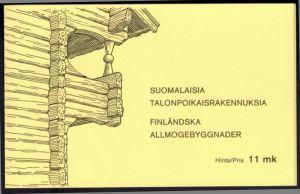 Finnland Markenheftchen 11 Architektur Bauernhäuser 1979 tadellos postfrisch