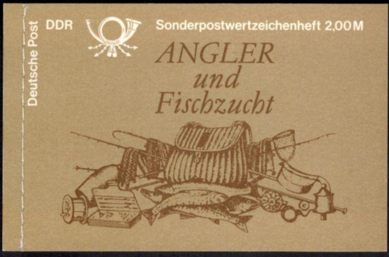 DDR Markenheftchen 9 w 1 Süßwasserfische 1988 tadellos postfrisch 0