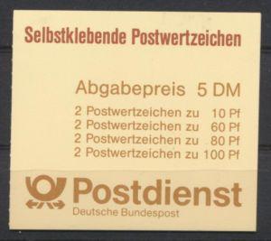 Bund Markenheftchen 27 I selbstklebend Luxus postfrisch MNH Kat.-Wert 11,00
